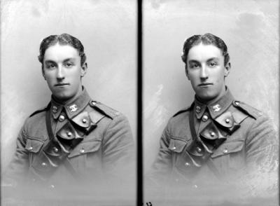 Glass Plate Negative: Trooper J T Ford