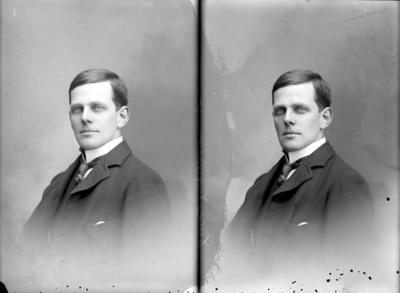 Glass Plate Negative: Mr A J Clowes (twin negative)