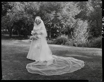 Film negative: Anderson and Cook wedding, bride