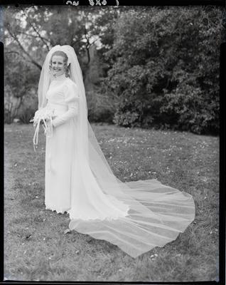 Film negative: Austin and Wray wedding, bride