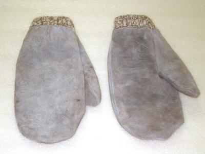 Mittens: Leather and Wool