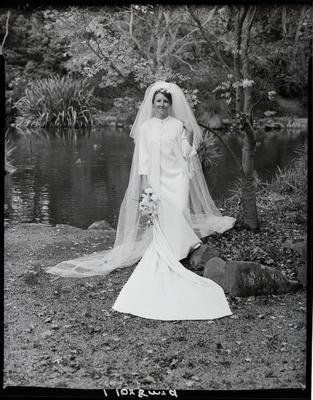 Film negative: Fail and Lambley wedding, bride