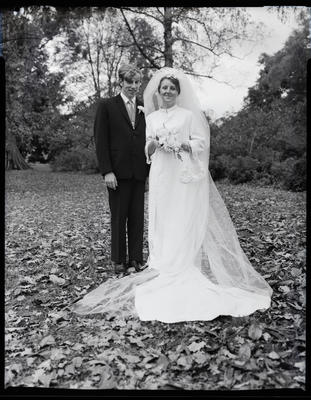 Film negative: Fail and Lambley wedding, bride and groom