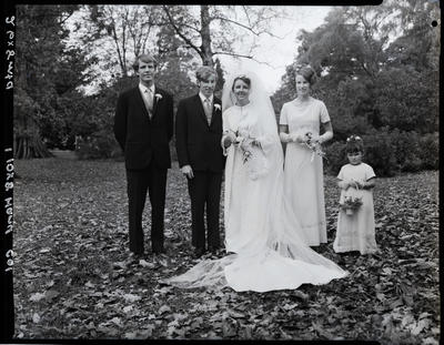 Film negative: Fail and Lambley wedding, party of five