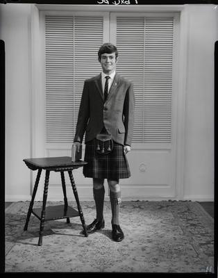 Film negative: Mr Dott, in kilt