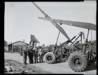 Film negative: International Harvester Company: visit by Mr Killough