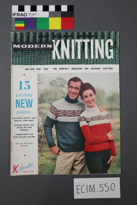 "magazine, knitting pattern:  ""Modern Knitting.  The monthly magazine for machine knitters"",  Jan/Feb 1960 (New Zealand edition)"