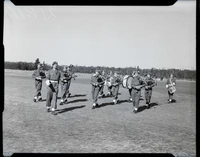 Film negative: Burnham, brass band parade