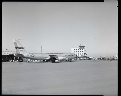 Film Negative: Truth New Zealand Limited, US Airforce 707 jet at Harewood