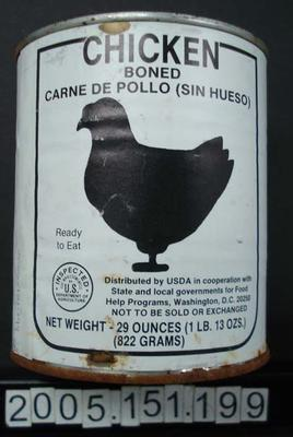 Tinned boned chicken