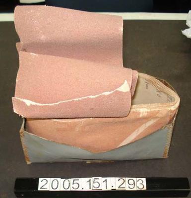 Box: Contains Sandpaper
