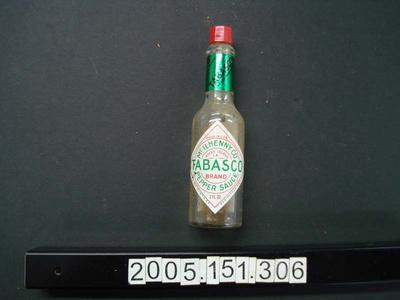 Bottle: Tabasco Sauce