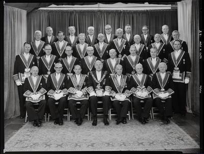 Black and White Film Negative: Provincial grand lodge
