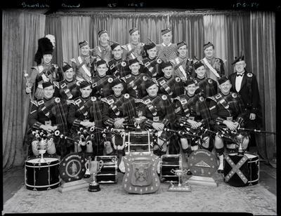 Black and White Film Negative: Scottish band