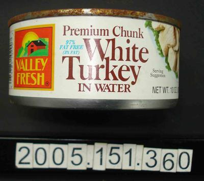 Tin of turkey