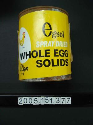 Whole Egg Solids: Spray Dried