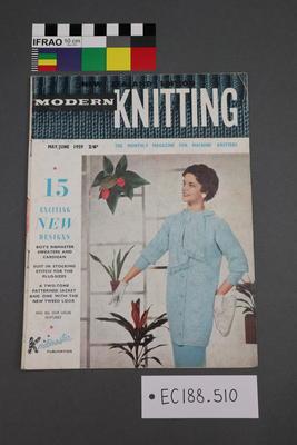 "magazine, knitting pattern: ""Modern Knitting"", ""The Monthly Magazine for Machine Knitters"",  May/June 1959 (New Zealand edition)"