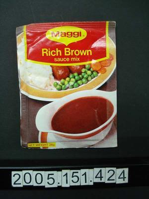 Sauce Mix: Rich Brown