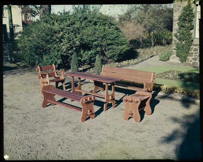 Film Negative: R J Harris Limited, outdoor furniture