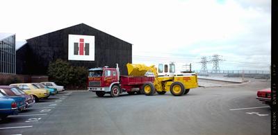 Film Negative: International Harvester Company Hough loading truck