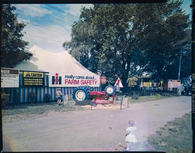 Film Negative: International Harvester Company: show farm safety signs