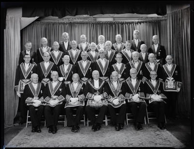 Black and White Film Negative: Grand Provincial Lodge