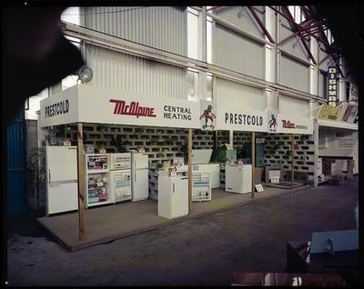 Film Negative: McAlpine refrigeration, display at industries fair