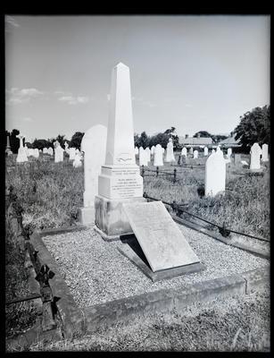 Glass Negative: Grave of John Greenaway, Canterbury horticultural association