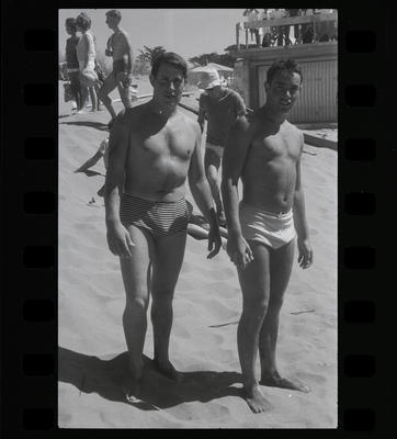 Black and White Film Negative: Surf Club Championships: family photographs, unidentified