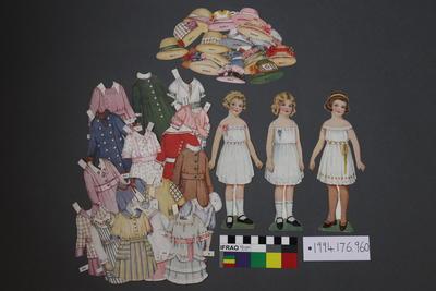 Paper Doll Set: Three Girls