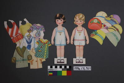 Paper Doll Set: Two Girls