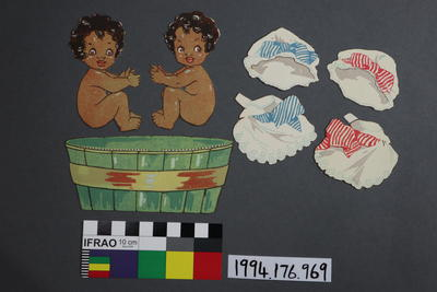 Paper Doll Set: Two Negro Babies