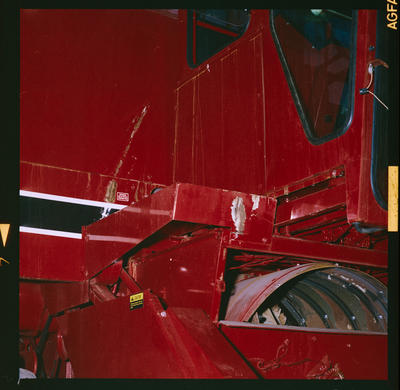 Film Negative: International Harvester Company: rust on combines
