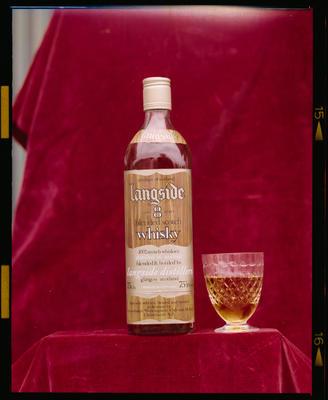 Film Negative: Chritstchurch Working Mens Club: Langside whiskey bottle