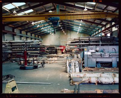 Film Negative: Gilbert lodge steel store interior