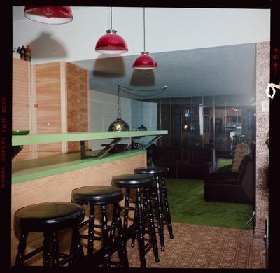 Film Negative: D L Wilson, various houses, bar interior