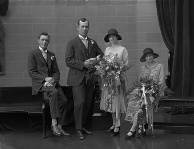 Film Negative: Mr B Nuttal - Wedding party of four