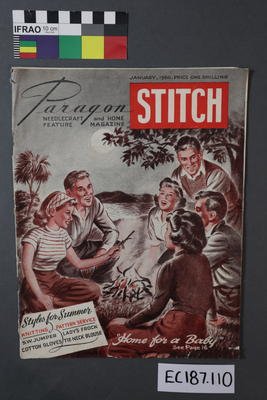 "magazine, knitting pattern: ""Paragon Stitch, the needlecraft and home feature magazine, vol 2, no 4"" January 1950"