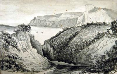 Drawing: Beer head from the cliff field, Seaton, June 1835; Jun 1835; 19XX.2.1526