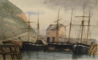 Painting: Axmouth Harbour, June 1836; Jun 1836; 19XX.2.1532