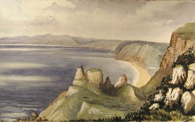Painting: Branscombe Landslip June 1836
