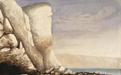 Painting: White Cliff from Seaton Hole, August 1836