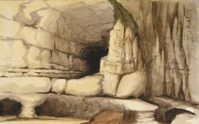 Painting: Rocks under Beer Head, August 1836