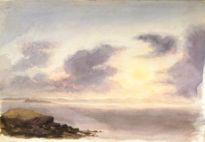 Painting: Sunset on the Bristol Channel, July 1837