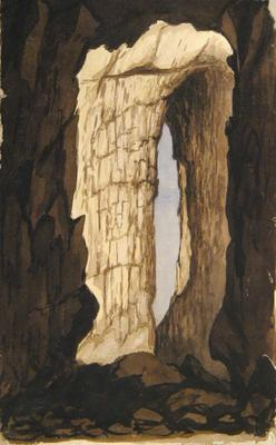 Painting: Natural arch near Beer, August 1836
