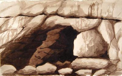 Painting: Cave near Beer, August 1836