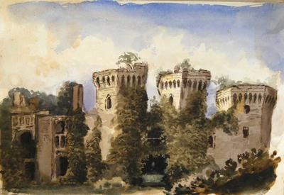 Painting: The Entrance to Ragland Castle