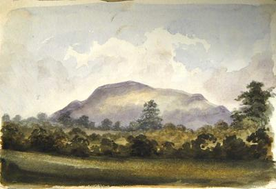 Painting: View of the Holy Mountain near Abergavenny, July 8th 1837