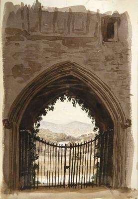 Painting: An old gateway, Crickhowell, July 10th 1837