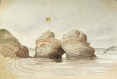 Painting: Rocks upon the Flat Holmes, August 1837